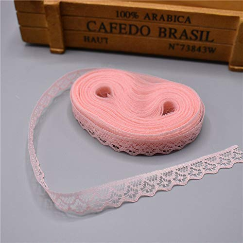 (MOPOLIS Hot 10 yards Lace Ribbon Width 14MM Trim Fabric Embroidered For Sewing | Colour - Skin color)