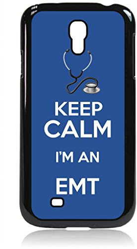 Keep Calm I'm an EMT-Navy- Hard Black Plastic Snap - On Case with Soft Black Rubber Flip Cover--Samsung® GALAXY S3 I9300 - Samsung Galaxy S III - Great Quality!
