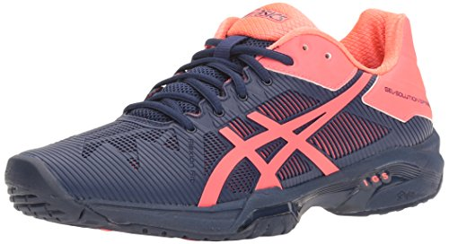 ASICS Women's Gel-Solution Speed 3 Tennis Shoe, Indigo Blue/Diva Pink, 5 M US