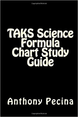 TAKS Science Formula Chart Study Guide: Anthony Pecina