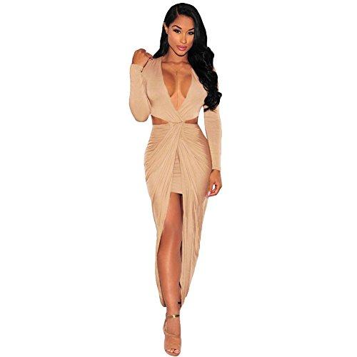 benningco-womens-cut-out-drape-slit-long-sleeve-maxi-dresscoffeel