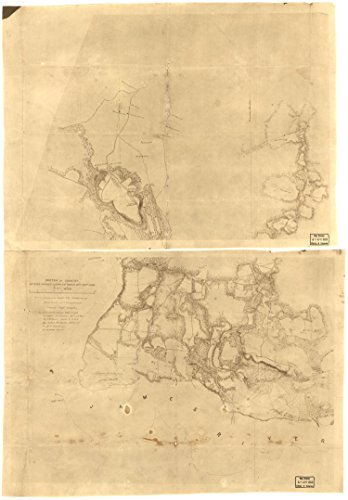 Map Poster   Sketch Of Country Between Haxalls Landing And Charles City Court House   Reconnoissances  Sic  Under The Direction Of Br 9  X 13