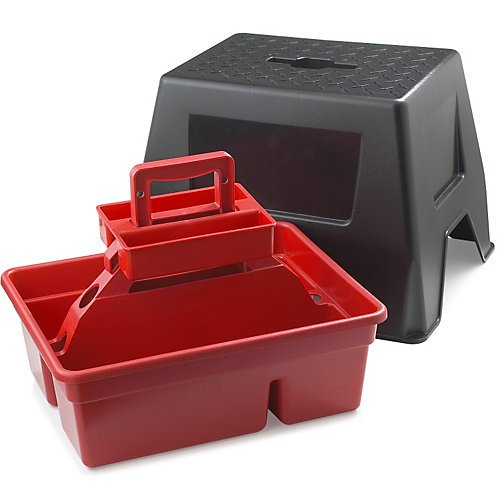 Dura Tote Step Stool Color: Red