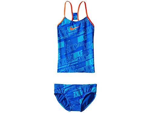 Nike Kids Girls' Racerback Tankini (Big Kids), Hyper Cobalt, 7