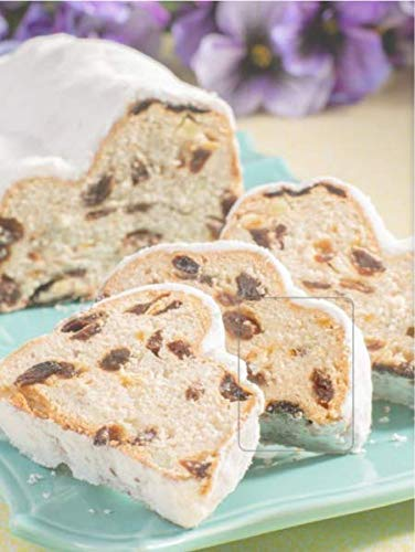 (Schluender Stollen with Marzipan Spring Traditional Authentic German Cake Confectioners Sugar Nuts Raisins Imported Gourmet Highest Quality Ingredients)