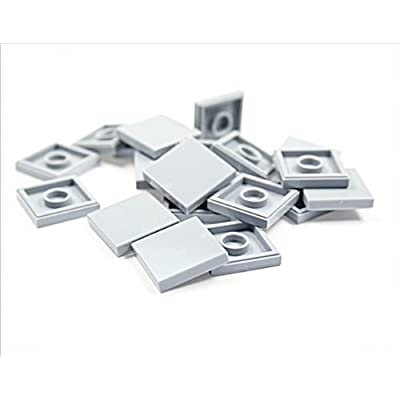 LEGO City - 20 tiles, 2x2 studs, in new light grey - flat surface - 3068: Toys & Games