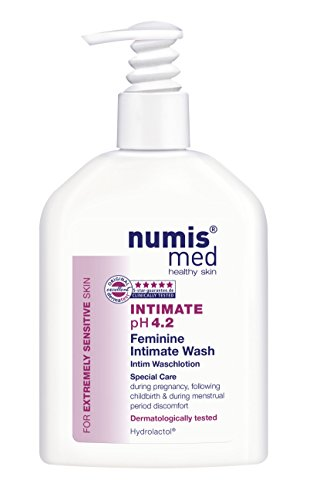 (Intimate Hygiene Cleanser Imported From Germany pH 4.2 Dermatologist Tested - Soap Free Paraben Free Vegan Clinically Tested For Extremely Sensitive Skin 200 ml by Numis Med Sensitive®)