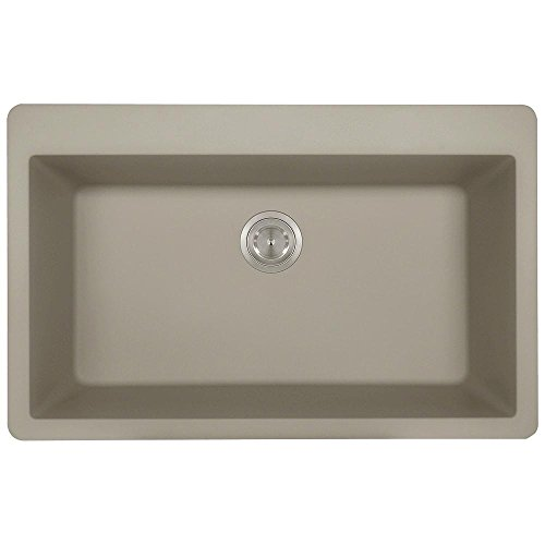 T848 Topmount Large Single Bowl Kitchen Sink, Slate, Sink Only