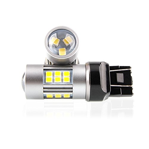 - Durable 7443 Bulb LED For Brake Lights or Reverse Parking Rear Side marker Turn Signal Night Time Driving Lights 6200K White With Projector 1600 Lumens 4.8W Low Power 10-30V Pack Of 2