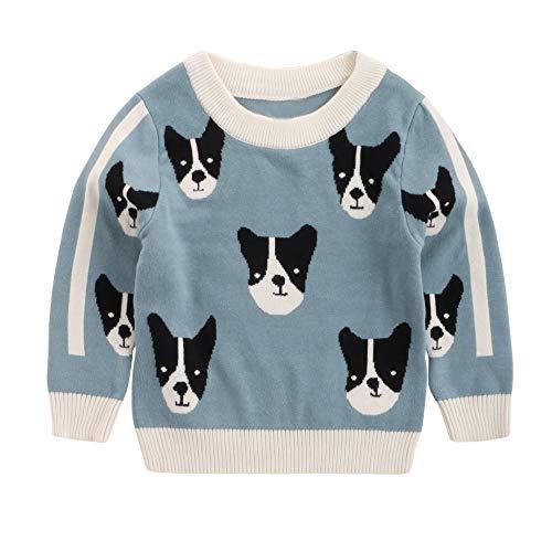 Jchen(TM) Baby Infant Little Boy Girl Cartoon Puppy Sweaters Soft Warm Kids Autumn Tops for 1-5 Y (Age: 12-18 Months, Blue) by Jchen Baby Coat