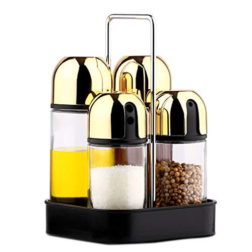 Estante de Vidrio sin Plomo Set Botella de Aceite de Cocina Olla a Prueba de Fugas Botella de Aceite de sésamo Botella de...