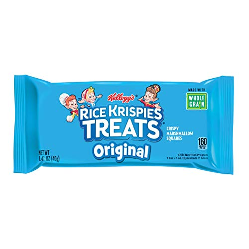 Halloween Rice Crispy Treat Recipes (Kellogg's Rice Krispies Treats, Crispy Marshmallow Squares, Original, Made With Whole-Grain, Bulk Size (Pack of 80, 1.41 oz)