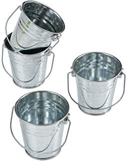 10 LARGE Galvanized BUCKETS 6