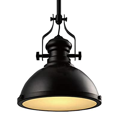 BayCheer HL371268 Industrial Country Painting Large Pendant Light - Ceiling Lighting - Chandelier with 1 Light Black