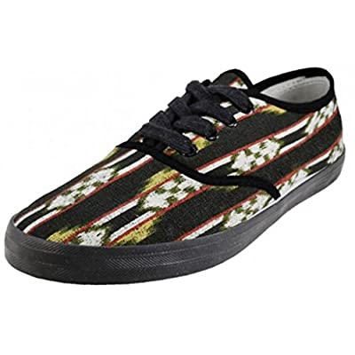 EasySteps Women's Canvas Lace Up Shoes with Padded Insole, Quilla Ikat Print, US Women's 7 B(M) US