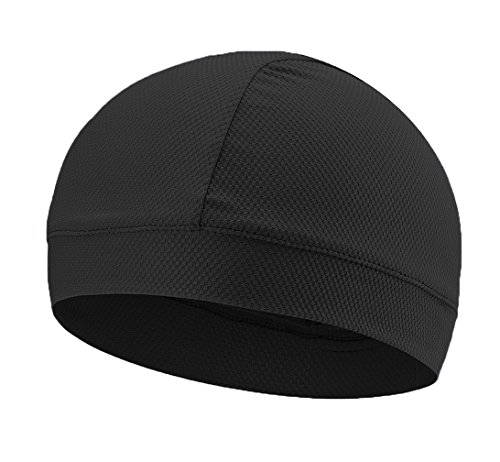 Bicycle Helmet Liner (Sanchy UV-Pro Cycling Breathable Moisture Wicking Cooling Helmet Liner Black)