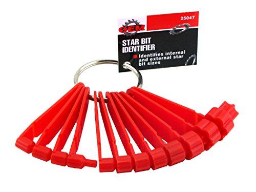 OEMTOOLS 25047 Star Driver Bit Identifier (Great Socket Neck)