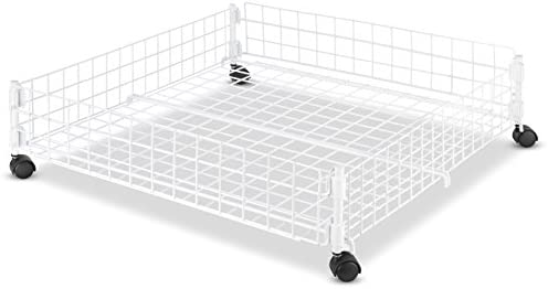 Whitmor Rolling White Wire Underbed product image