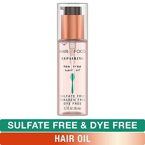 - Sulfate Free Hair Oil, Dye Free Smoothing and Repairing Treatment, Tea Tree, Hair Food, 3.2 FL OZ
