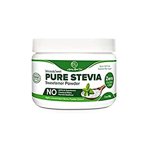 Pure Stevia Powder Extract Sweetener - Zero Calorie Sugar Substitute - Completely Free of Artificial Ingredients
