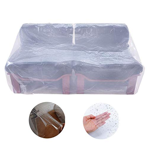 """Plastic Couch Cover,Waterproof Sofa Cover,Garden Furniture Protector for Moving and Long Term Storage,68"""" Wx42 D from Covolo"""