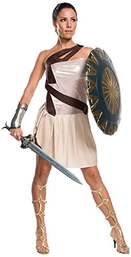 Wonder Woman Costume Makeup (Rubie's Costume Co. Women's Movie Deluxe Beach Battle Wonder Woman Costume, As Shown, Small)