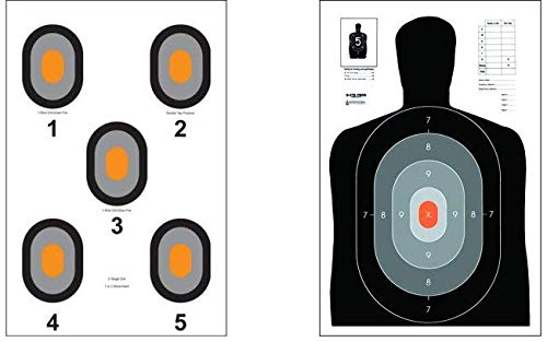 Action Target - B-27E Pros - 530-OC Paper Target - 100 Pack (50 of Each Target, 100 Total) - Paper Targets, Shooting Targets ... from Action Target