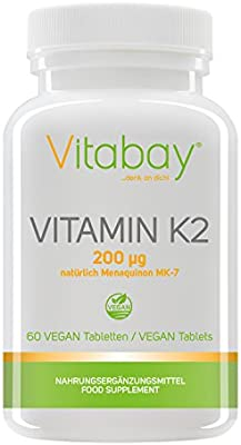 Vitamina K2 200 μG (menaquinone MK-7 Natural) (60 Pastillas ...