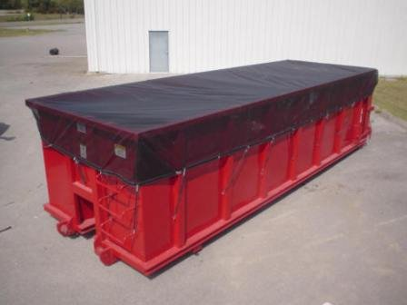 ALCO - Super Heavy Duty MESH Vinyl Dumpster Tarp/Cover (12' x 26') - Affordable and Durable