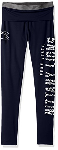 NCAA by Outerstuff NCAA Penn State Nittany Lions Juniors Elastic Heart Legging, Dark Navy, -