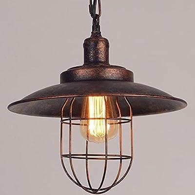 Kiven Iron Mini Pendant Light Vintage Style Iron Cage Pendant Light Retro Cage Pendant Lamp
