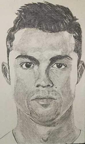 5x8 Inch Cristiano Ronaldo Pencil Sketch Amazon In Home Kitchen