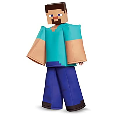 Steve Prestige Minecraft Costume, Multicolor, Large (10-12): Toys & Games