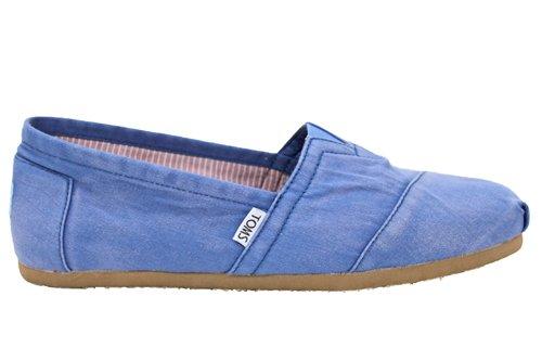 TOMS - Mocasines de lona para hombre azul azul 39.5 (6 UK)