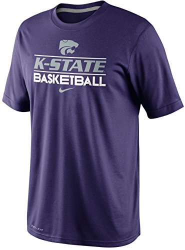 Nike Kansas State Wildcats Basketball Dri-FIT 2013 Team Issue Practice T-Shirt (XL, Purple)