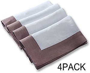 Simple&Opulence 100% Linen Basic Cloth Napkin 18x18inch…