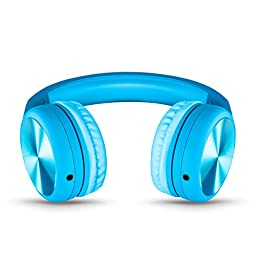 New! LilGadgets Connect+ Pro Premium Volume Limited Wired Headphones with SharePort for Children (Blue)