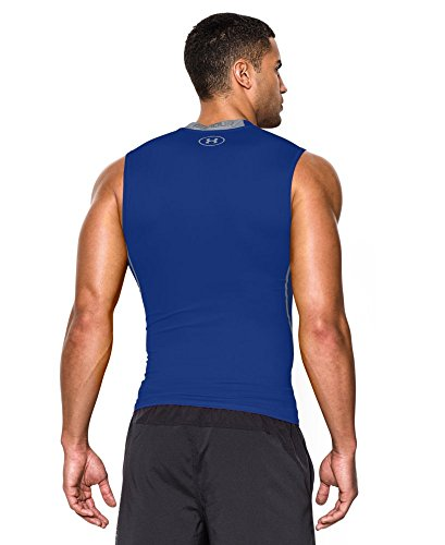 602095bfa Under Armour Men's HeatGear Armour Sleeveless Compression Shirt, Royal  /Steel, XXX-Large