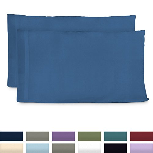 Cosy House Collection Luxury Bamboo King Size Pillow Cases - Royal Blue Pillowcase Set of 2 - Ultra Soft & Cool Hypoallergenic Natural Bamboo Blend Cover - Resists Stains, Wrinkles, -