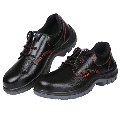 Karam Grain Leather Safety Shoes FS-01BL Anti slip and heat resistant - Size 9, Black (B07C3F8JLB) Amazon Price History, Amazon Price Tracker