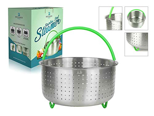 Instant Pot Steamer Basket 6 Quart - Instant Pot Accessories Stainless Steel with Silicone Coated Legs and Handle - Fits 6&8 Qt Instapot Pressure Cooker  Price: $16.99