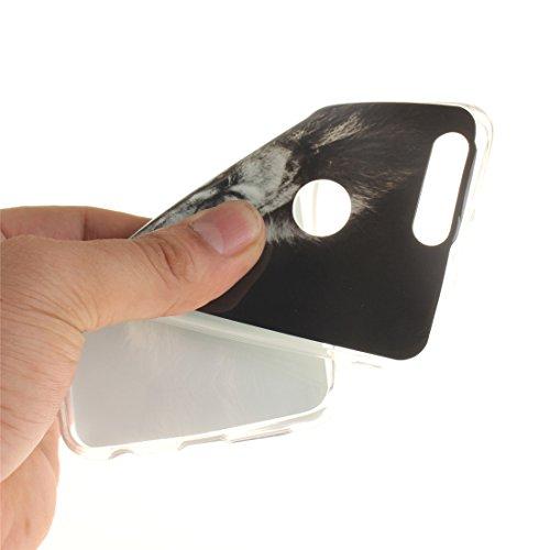 En Antichoc TPU Arrière Huawei Honor Cas Peint Bord Couverture Fit De Motif Protection Slim Cas 8 lion Scratch Silicone Souple De Transparent Téléphone Résistant Hozor 8q6PP