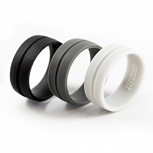Ultra Thin Silicone Wedding Rings For Men, Constructed from Premium Medical Grade Rubber, and Comes In Black, Grey & Light Grey Colors for True Commitment and Active Lifestyle.