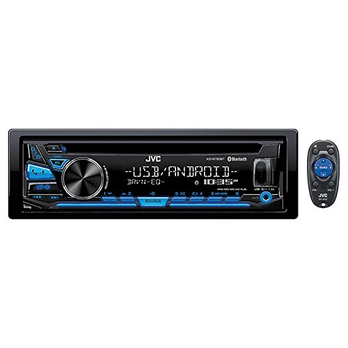 JVC KD-R780BT 1-DIN CD Receiver with Bluetooth and JVC App Remote