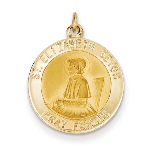 Icecarats Créatrice De Bijoux 14K Saint Pendentif Elizabeth Seton Médaille