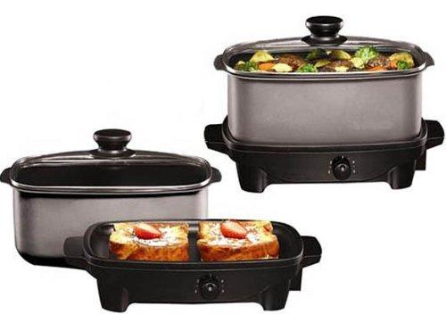 5 Quart Slow Cooker and Griddle