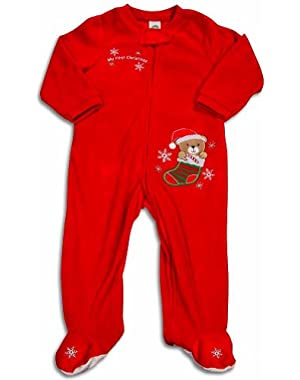 Baby Girls Long Sleeve Santa Claus Pajamas