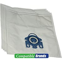 ComptibleBags Miele GN Compatible Canister Vacuum Bags with 2 Filters (Pack of 5 Bags)