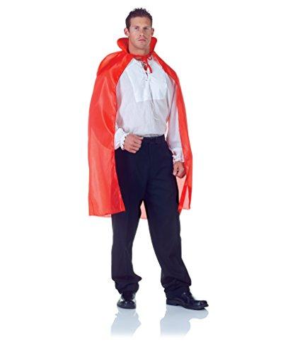 Underwraps Men's 38 Inch Taffeta Cape, Red, One Size