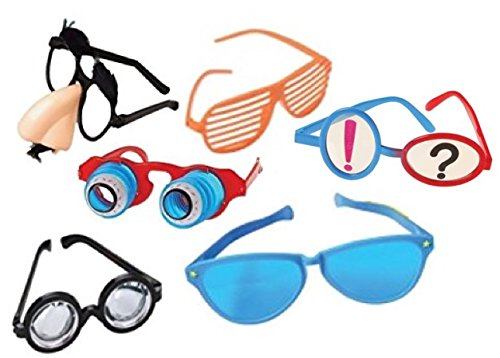 Funny Disguise Photo Prop Glasses- Set of 6 -